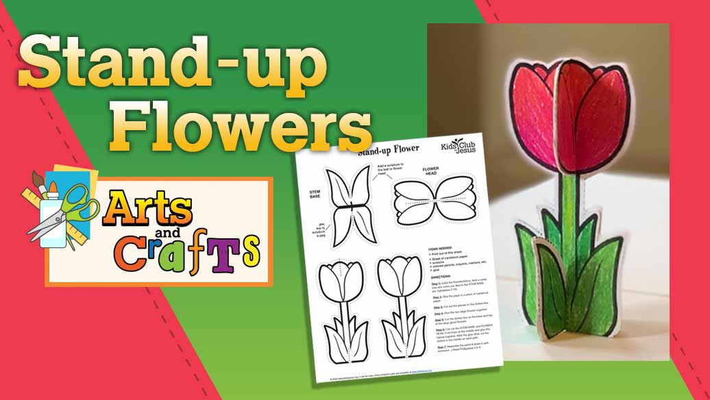 Stand-Up Flower Craft image